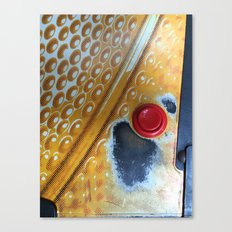Red Button Canvas Print