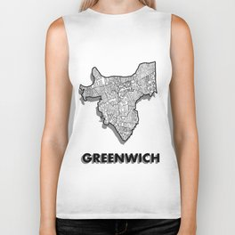 Greenwich - London Borough - Detailed Biker Tank