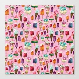 ice-cream pattern Canvas Print