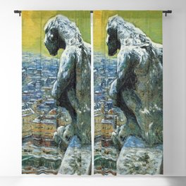 "Nicolas Tarkhoff (1902) ""Chimera of Notre Dame"" Blackout Curtain"