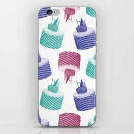 colorful cakes iPhone Skin