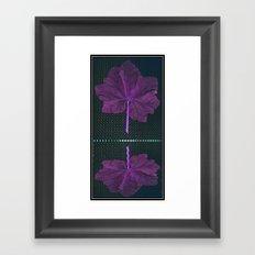 Leaf Reflected. Framed Art Print