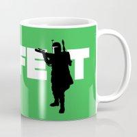 boba fett Mugs featuring Boba Fett by Vector Vectoria