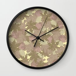 Soft Fall #society6 #fall Wall Clock