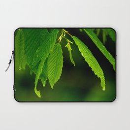 Glowing green Laptop Sleeve