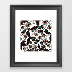 Tangled spring branches and flowers Framed Art Print