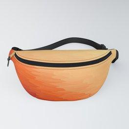 Orange Texture Ombre Fanny Pack