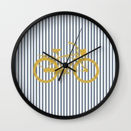 Golden Bike (Preppy Collection) Wall Clock