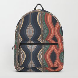 Colored waves Backpack