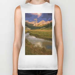 Glacier National Park in Autumn Biker Tank
