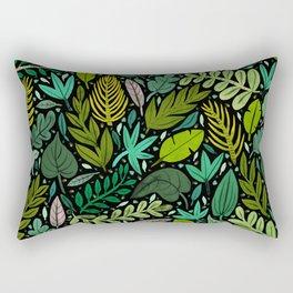 Green Scatter Rectangular Pillow