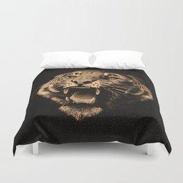 Vintage Tiger in black Duvet Cover