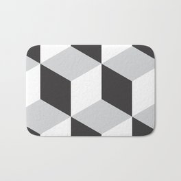 Cubism Black and White Bath Mat
