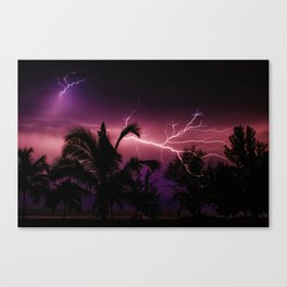Sunset Lightening Storm (Color) Canvas Print