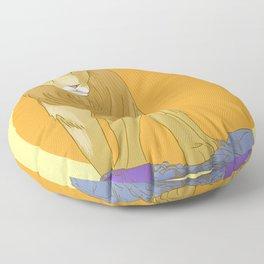 A Lion Untamed Floor Pillow