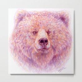 Katmai Bear Metal Print