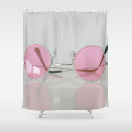 When setting up a rose-colored glasses... Shower Curtain