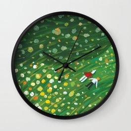 Flower Floor 001 Wall Clock