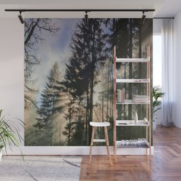 Sun Shinning Thru Trees Wall Mural