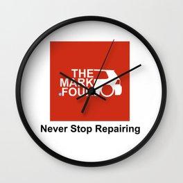 TMF (Never Stop Repairing) Wall Clock