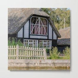 Riverside cottage Metal Print