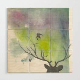 another deer painting Wood Wall Art