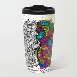 Two parts of Brain Metal Travel Mug
