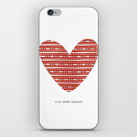 CORAZON (rojo) iPhone & iPod Skin