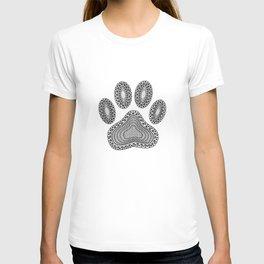 Ink Dog Paw Print T-shirt