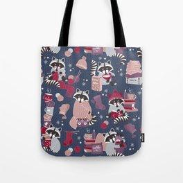 Hygge raccoon Tote Bag