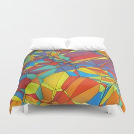 Colorful miscellaneous shapes Duvet Cover