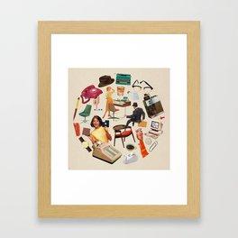 9 to 5 Framed Art Print