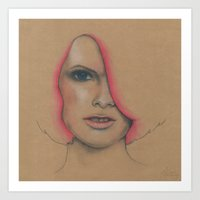 hot pink Art Prints featuring Hot Pink by Emma Armstrong