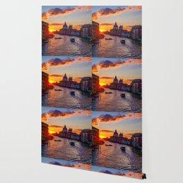 Sunset River City (Color) Wallpaper