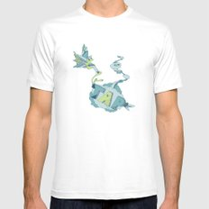 Tap MEDIUM Mens Fitted Tee White