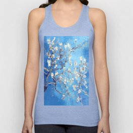 Vincent Van Gogh Almond Blossoms. Sky Blue Unisex Tank Top