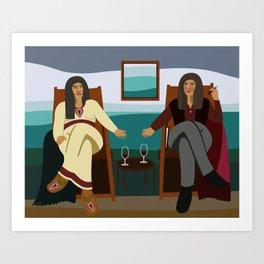 The Two Same III Art Print