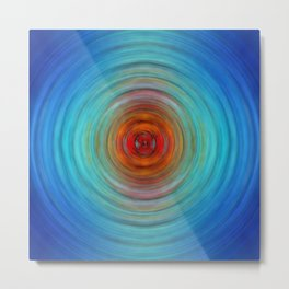 Center Point - Abstract Art By Sharon Cummings Metal Print