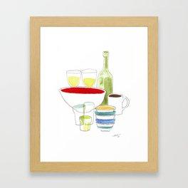 Bowls and Glasses Framed Art Print
