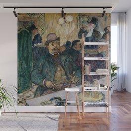"""Henri de Toulouse-Lautrec """"Monsieur Boileau at the Café"""" Wall Mural"""