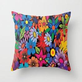 festa das flores!! Throw Pillow