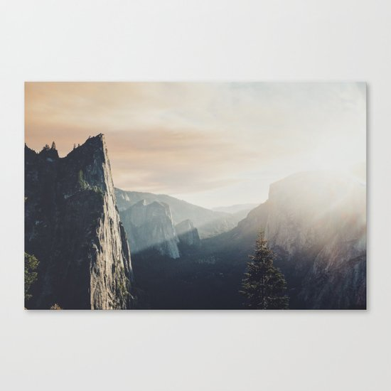 Up in the cliffs, down on my mind  Canvas Print
