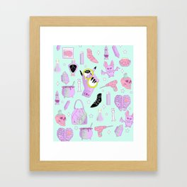 Witchy Pastel Goth: My Favorite Things Framed Art Print