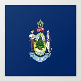 flag maine,america,usa,pine tree,vacationland, mainer,new england,portland,brunswick,lewiston Canvas Print