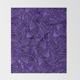 Purple Tapa Throw Blanket