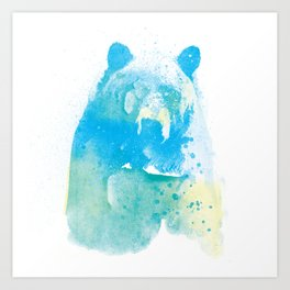 brushed bear Art Print