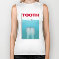 tooth Biker Tanks featuring tooth by tama-durden