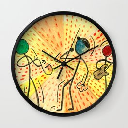 """#cagsticks """"The travellers Band"""" Wall Clock"""