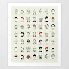 The Characters of W Art Print