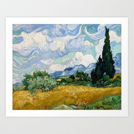 Wheat Field with Cypresses - Vincent van Gogh Art Print